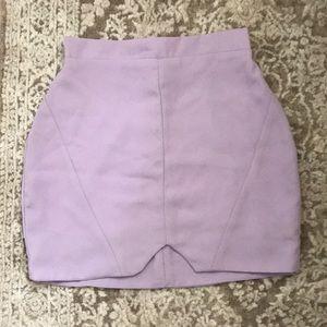 Purple Mini Skirt.